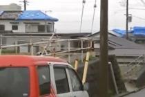 """强台风""""海贝思""""侵袭日本"""