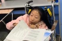 女孩从小患病 坐着轮椅考进大学