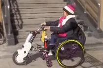 """新式""""电动车头轮椅""""引热议"""
