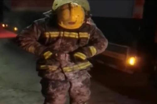消防员战斗服变身