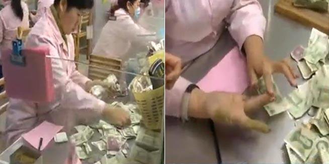揭秘公交点钞员:日数纸币上万张
