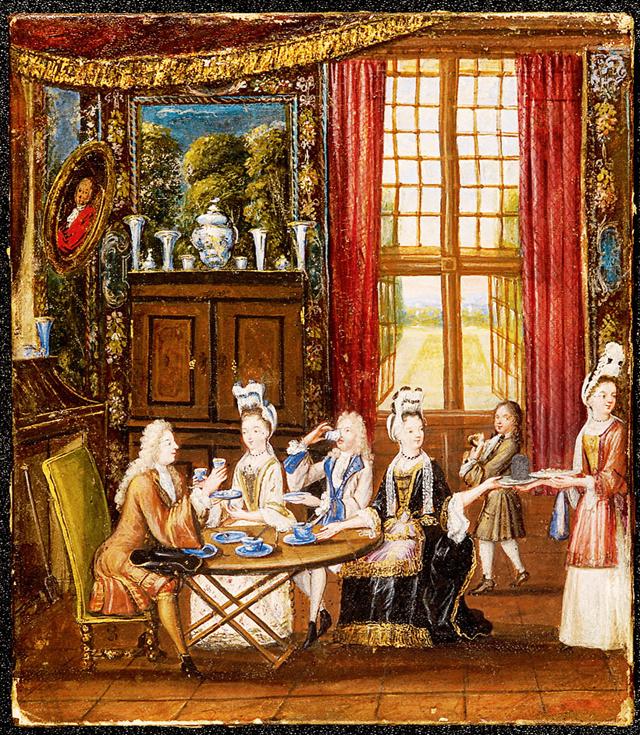 中国梦 的情 油画 生活/这幅油画再现了19世纪英国贵族阶层享用下午茶的场景。