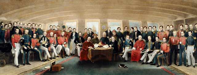 1842年8月,清政府被迫签订中国近代历史上第一个不平等条约――中英