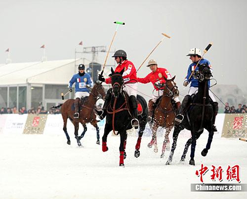 亚洲首届雪地马球挑战赛落幕 英格兰队夺冠