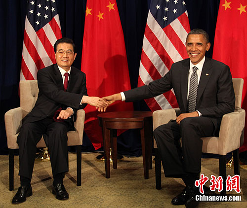 胡锦涛檀香山会见奥巴马图片