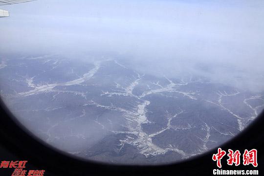 航拍冬日北国风光 大地似铺白色地毯