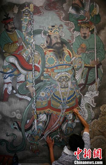 永乐宫寺庙壁画制作