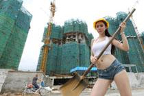 女孩拍劳动者职业照