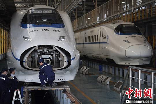 """沪宁城际动车""""体检""""保障春运"""