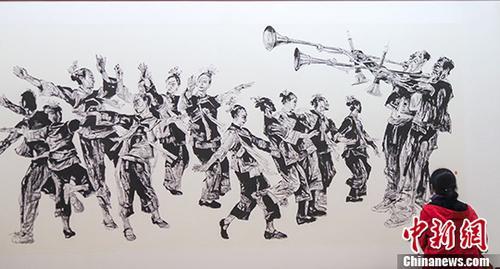 多彩贵州大型书画作品展在京开幕