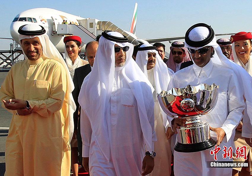 亚洲杯奖杯运抵卡塔尔