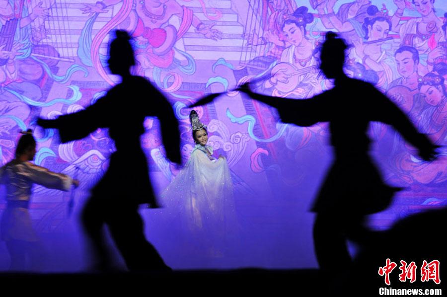 莫高窟 兰州/1月11日晚,取材于敦煌莫高窟壁画故事和敦煌民间神话传说,全...