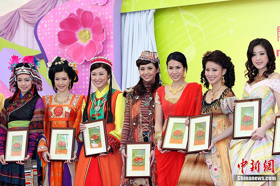 香港靓女艺人为春花妙韵摄影比赛担任模特