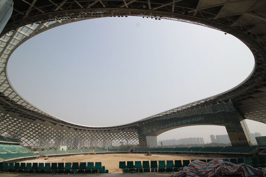 基本完工的深圳湾体育中心