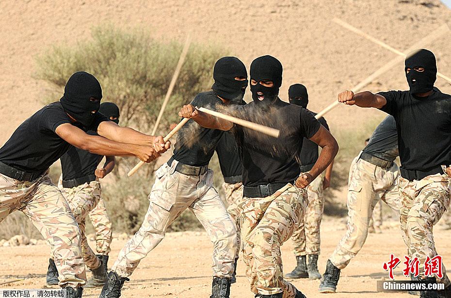 沙特特种部队展示战斗技能图片