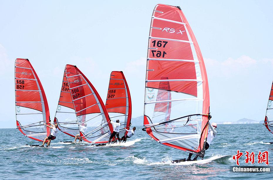 深圳大运会帆船帆板项目开赛