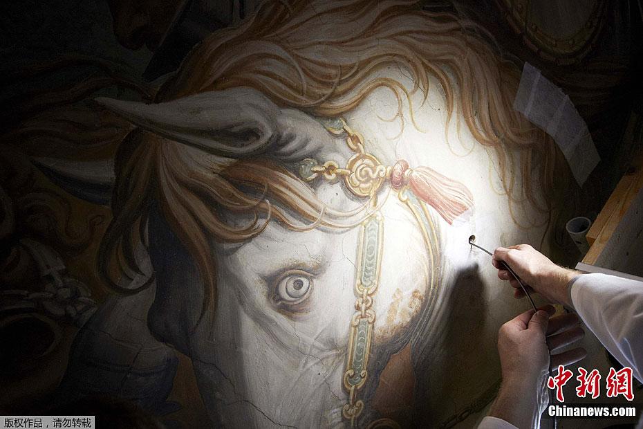 作品 达芬奇/近日,意大利艺术研究人员宣称,达·芬奇曾经创作的最大最重要的...