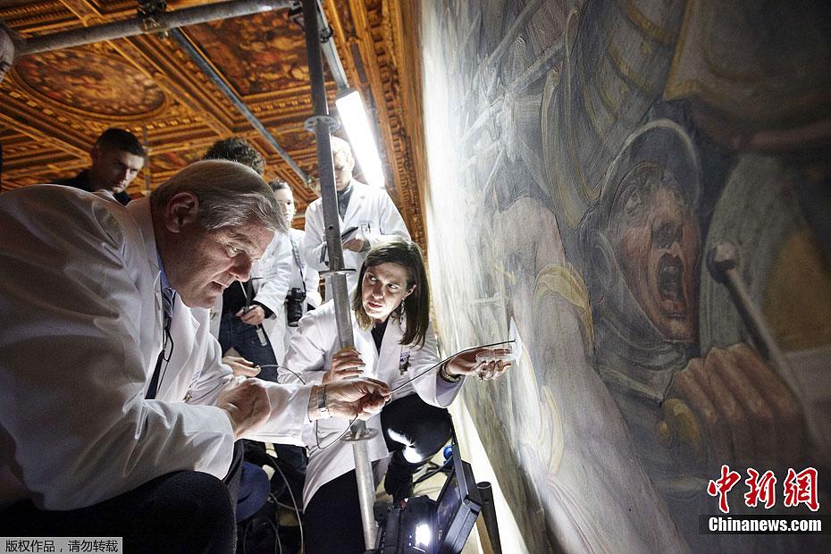 名画 达芬奇 重现 失落 世纪/近日,意大利艺术研究人员宣称,达·芬奇曾经创作的最大最重要的...