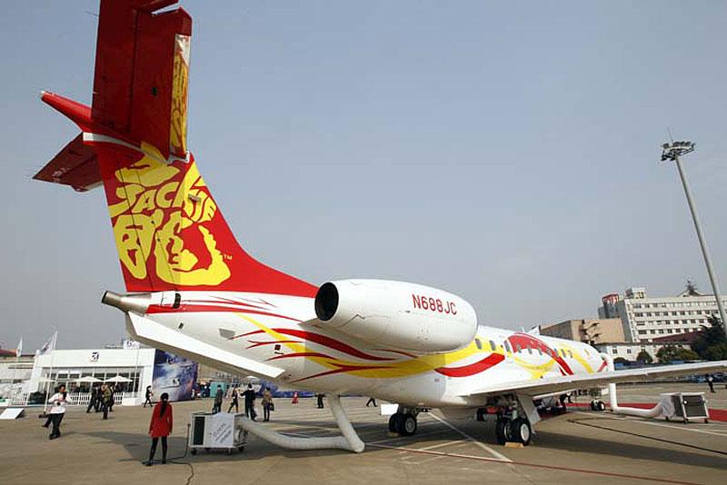 成龙价值两亿的私人飞机亮相上海