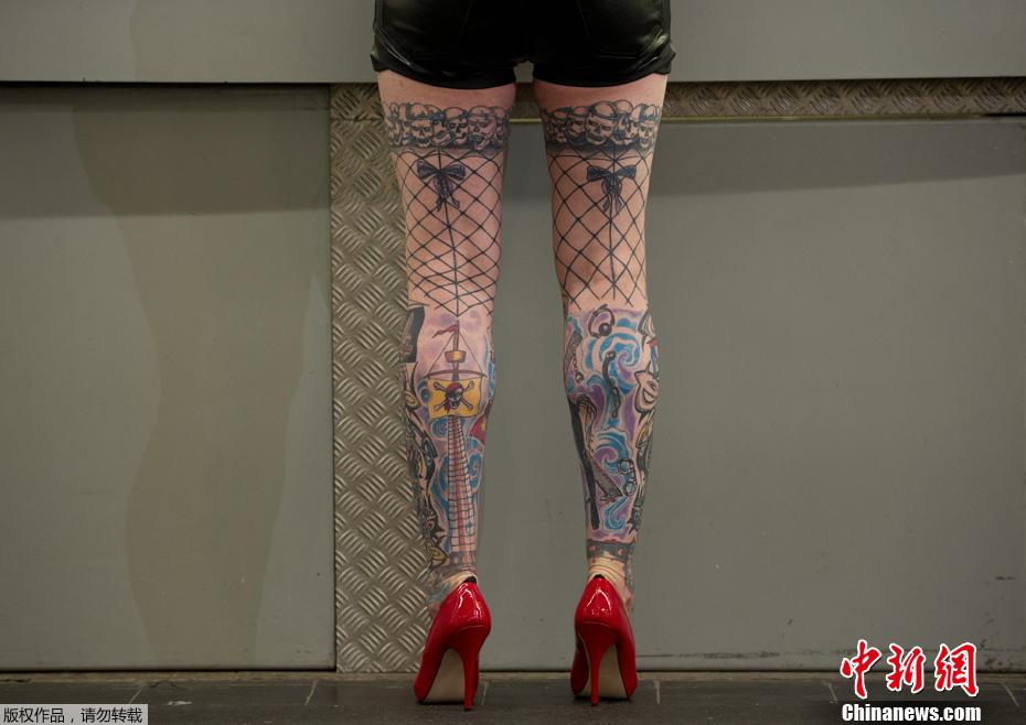 德国举行国际纹身大会 另类艺术令人瞠目 中新
