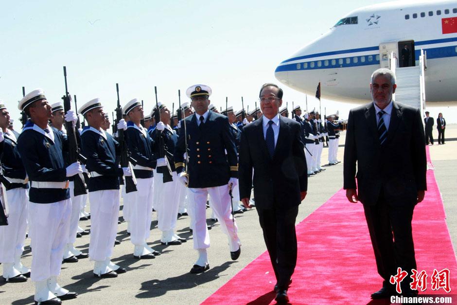 温家宝访问拉美之行途中过境摩洛哥