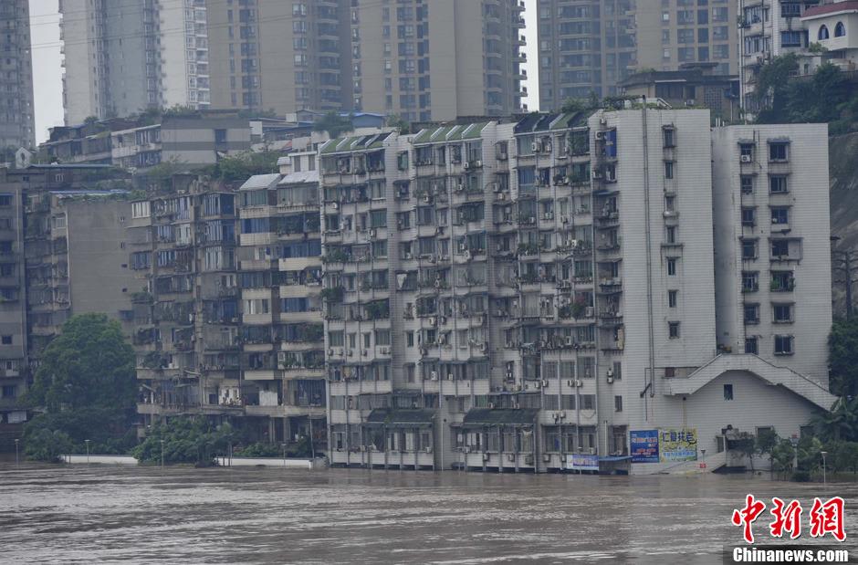 四川泸州遭遇50年一遇特大洪水袭击