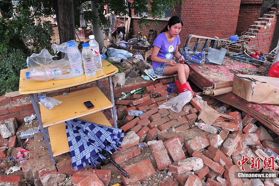 北京房山北车营村村民生活尚未恢复正常