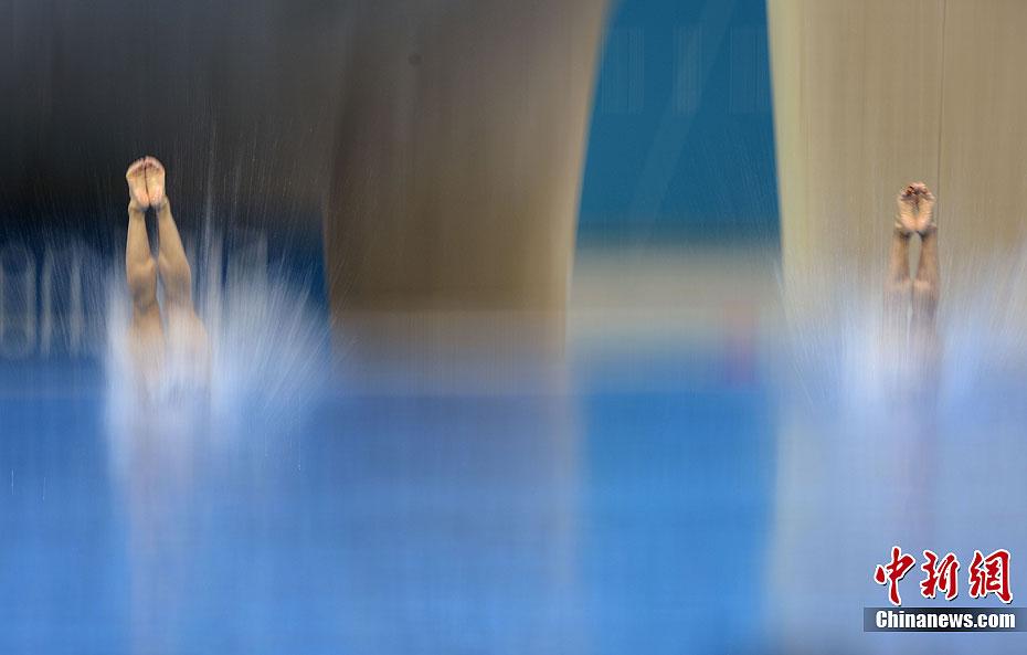 奥运跳水比赛中的那些水花