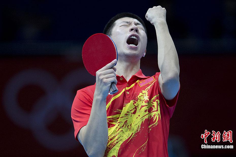 伦敦奥运会乒乓球男团决赛 韩国队获得银牌