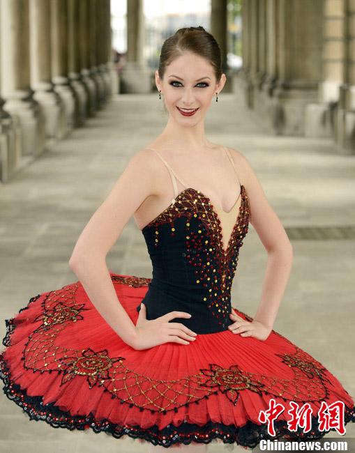 芭蕾舞美女拍摄写真 将在奥运闭幕式表演 中新