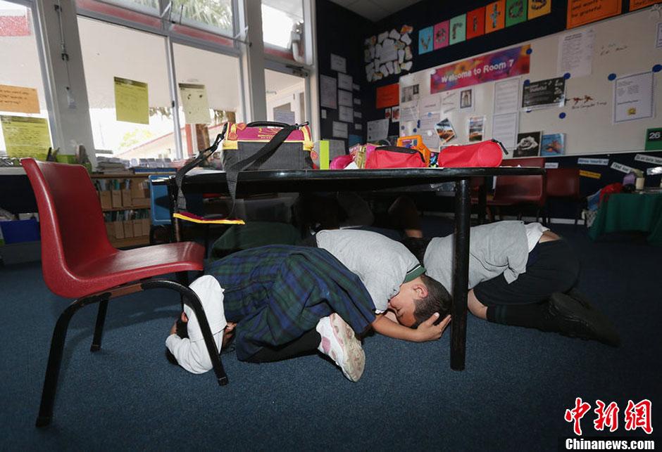新西兰举行首次全国范围地震演习 百余万人参