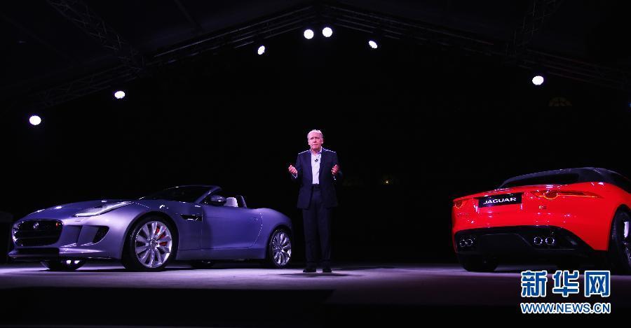 英国捷豹汽车公司当日晚在巴黎发布新款运动车F-Type,发布会共展高清图片