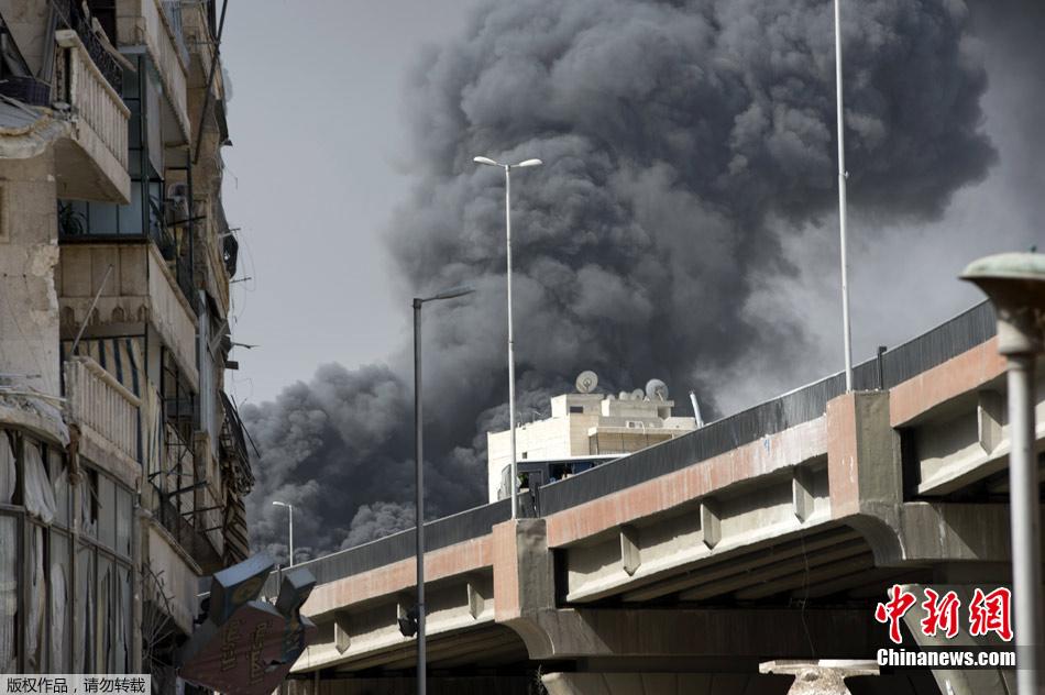 叙利亚战火烧及阿勒颇老城