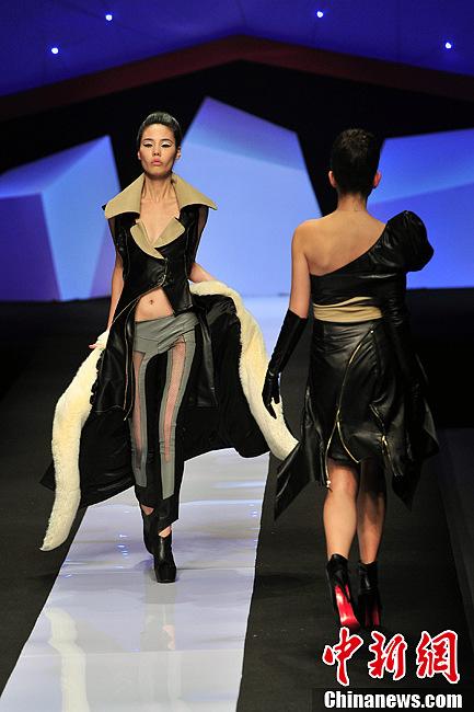 中国国际时装周皮装设计大赛落幕 皮装尽显干练 (6/14)