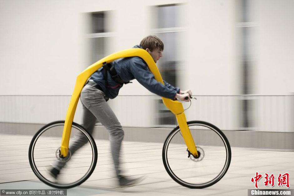 """图说2012之最牛的发明——自行""""跑车"""""""