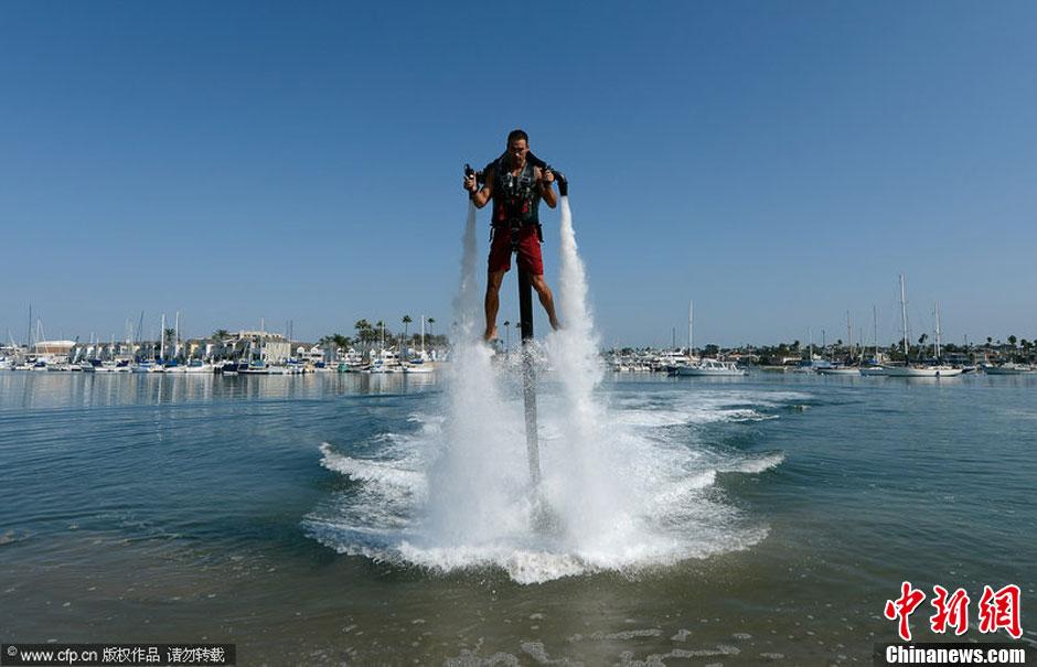 """图说2012之最牛的发明——""""喷水""""飞行器"""