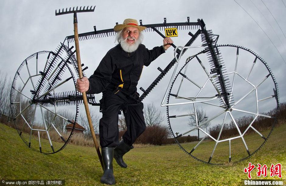 图说2012之最牛的发明——齿耙单车