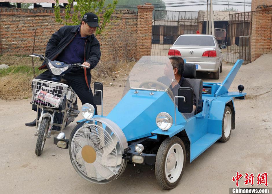 图说2012之最牛的发明——风电车