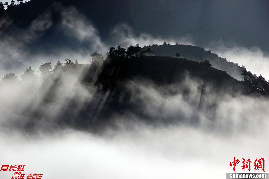 贵州威宁草海湖畔现云海美景 中新网