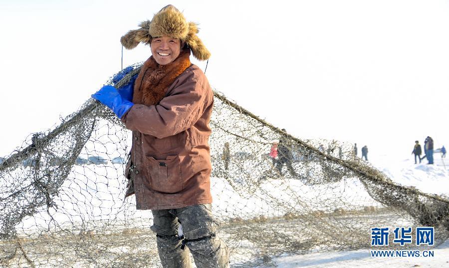 场面壮观!直击吉林查干湖冬季捕鱼现场