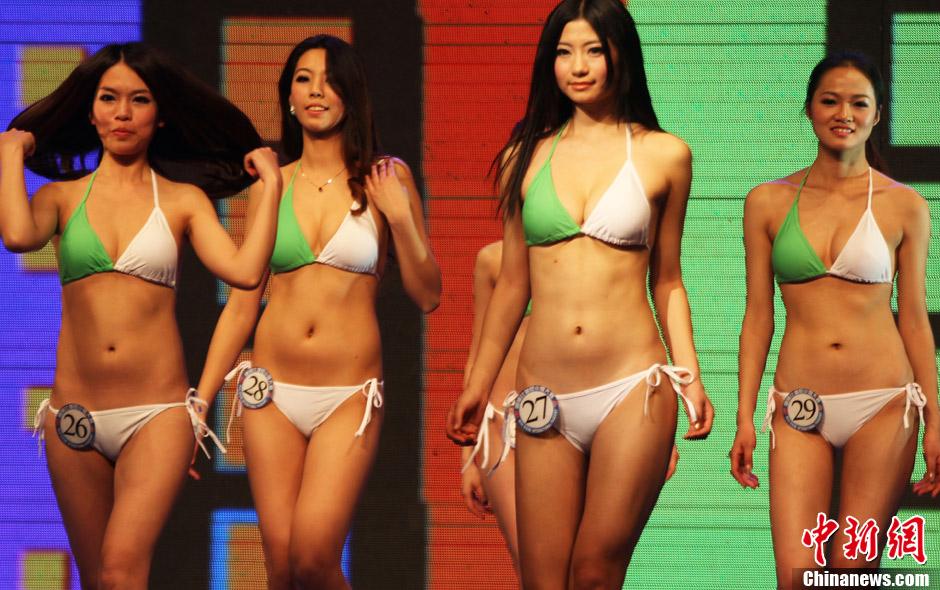 国际比基尼小姐中国总决赛评出火辣身材奖 中