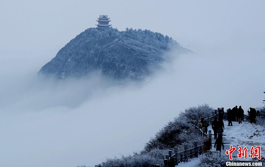 峨眉山冬季雪景美如画 - 海阔山遥 - .