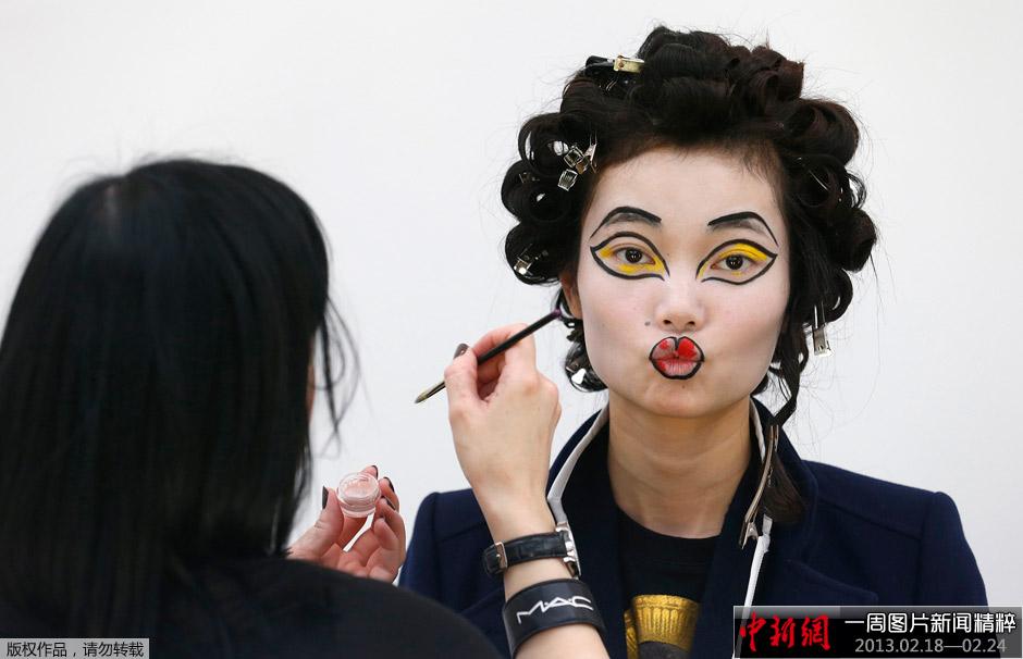 人脸抽象彩绘图案