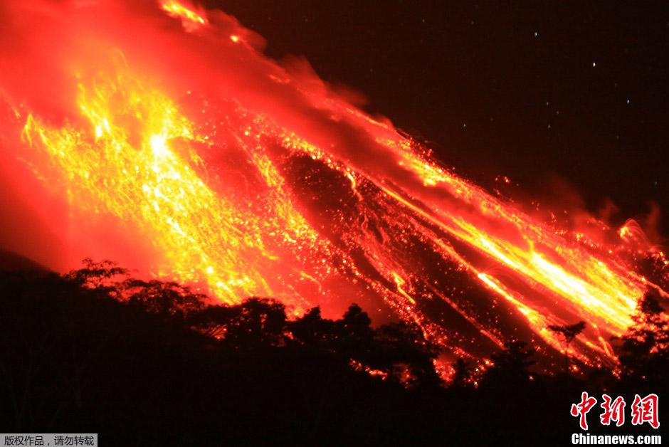 转帖:中新网——印度尼西亚火山喷发岩浆 - yanzibj - 寻找火山