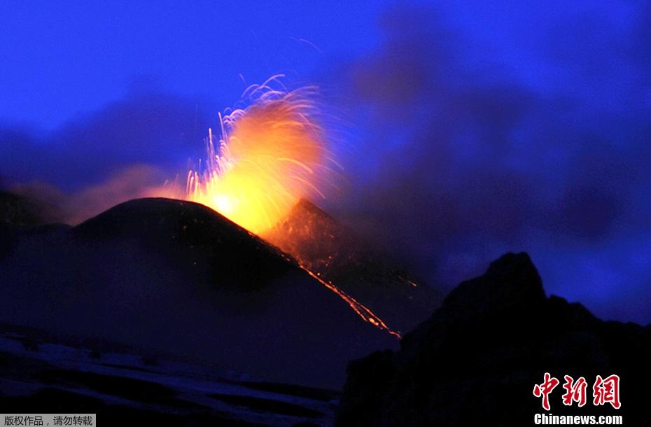 转帖:中新网——埃特纳火山喷发熔岩 - yanzibj - 寻找火山