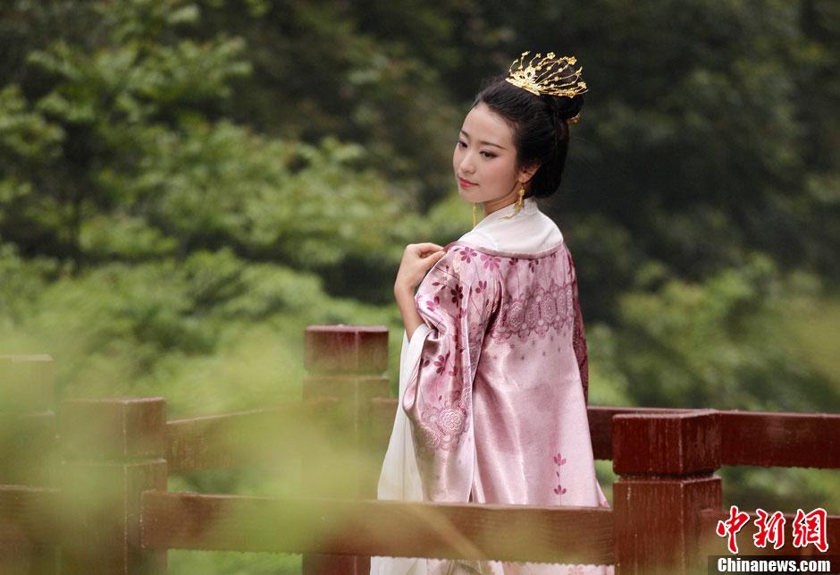 重庆四大美女静态电影片场 古典造型活色生香