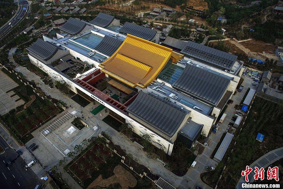中国园林博物馆即将开放 鸟瞰北京园博园