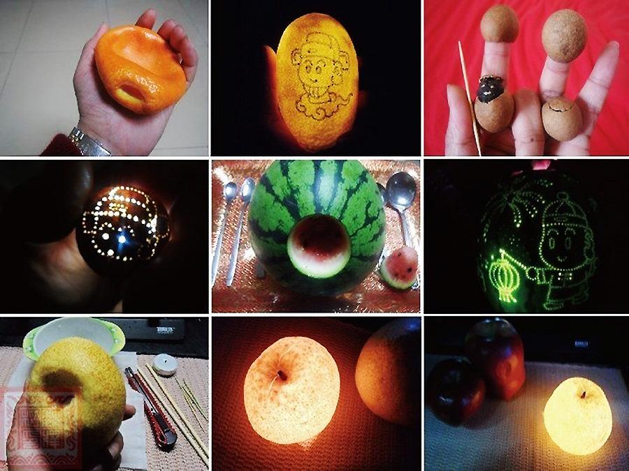 太有才了!校园牛人奇葩DIY之五花八门水果灯-