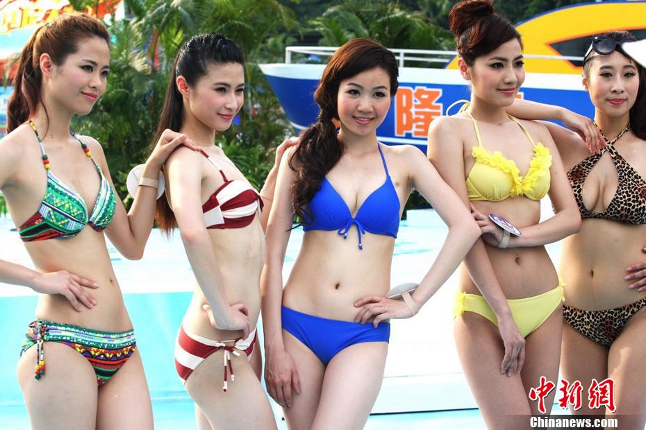 长隆比基尼小姐大赛举行众美女变身性感拳击手