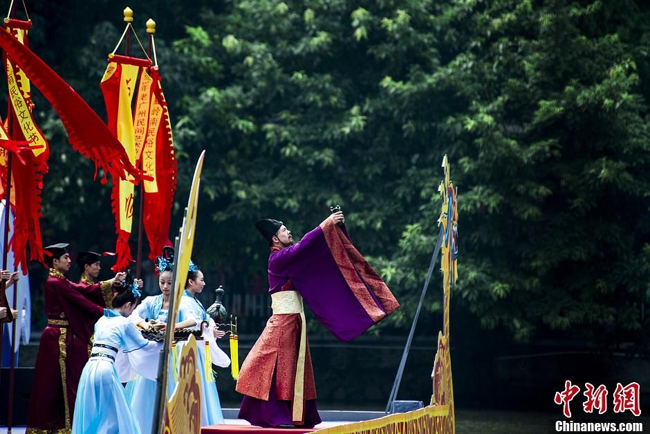 古代端午祭祀场景重现广州-中新网图片